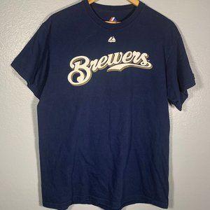 Milwaukee Brewers Ryan Braun #8 Jersey Tee